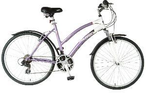 Polaris Ladies Sportsman Comfort Bike (Purple/White, 26 X 19-Inch)