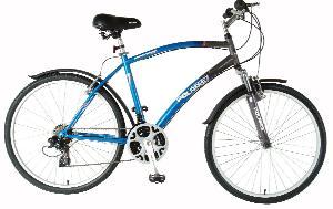 Polaris Men's Sportsman Comfort Bike (Blue/Gray, 26 X 19-Inch)