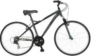 Schwinn Men's Network 1.0 700C Hybrid Bicycle, Charcoal, 18-Inch