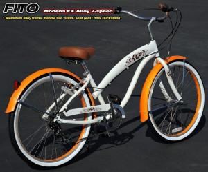 "Fito Modena Aluminum Alloy Frame Shimano 7-speed 26"" Beach Cruiser Bike Women Nirve Schwinn"