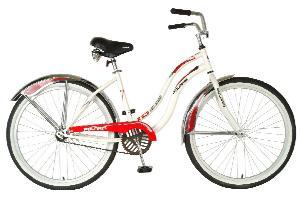 Polaris Ladies IQ Cruiser Bike (White/Red, 26 X 18-Inch)
