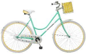 Schwinn Women's Fairbrook 700C Cruiser Bicycle, Mint/Yellow, 16-Inch