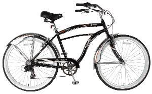 Victory Men's Touring Cruiser Bike (Black/Orange, 26 X 19-Inch)