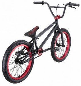 Eastern Bikes Boss BMX Bike (Matte Black with Red, 20-Inch)